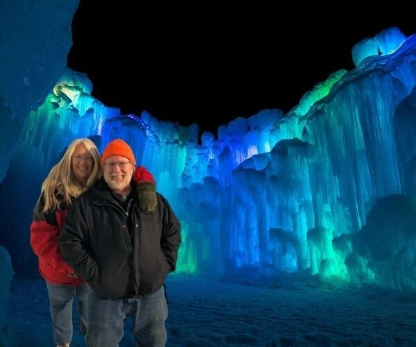 Gary and Michelle in the Ice Castle Lake Geneva
