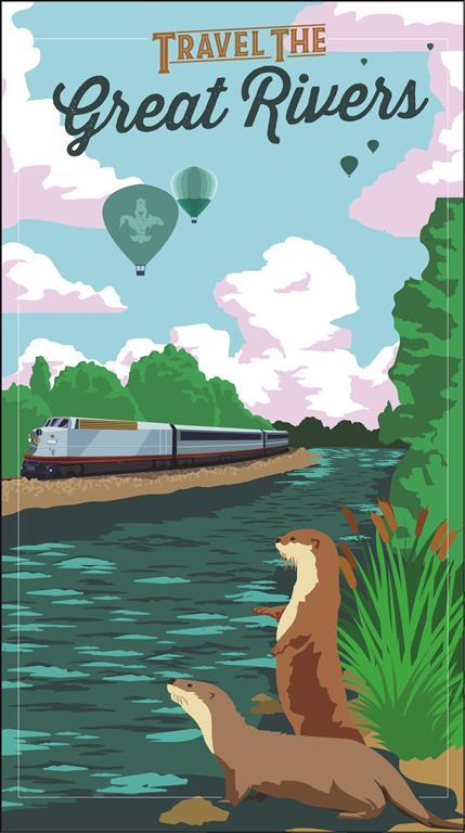 River Travel Poster