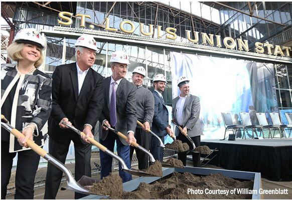 Breaking ground for the Aquarium