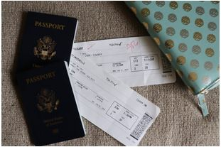 passports and plane tickets