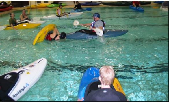 Kayak Lessons in a pool