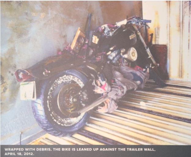 Harley Davidson in a trailer