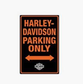 Harley Davidson Parking Sign