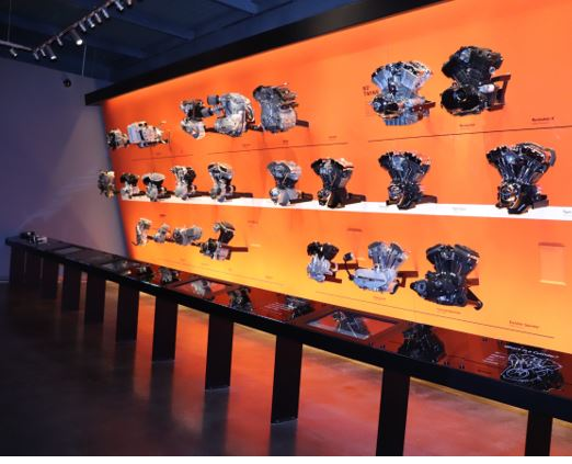 Wall of Harley Davidson engines
