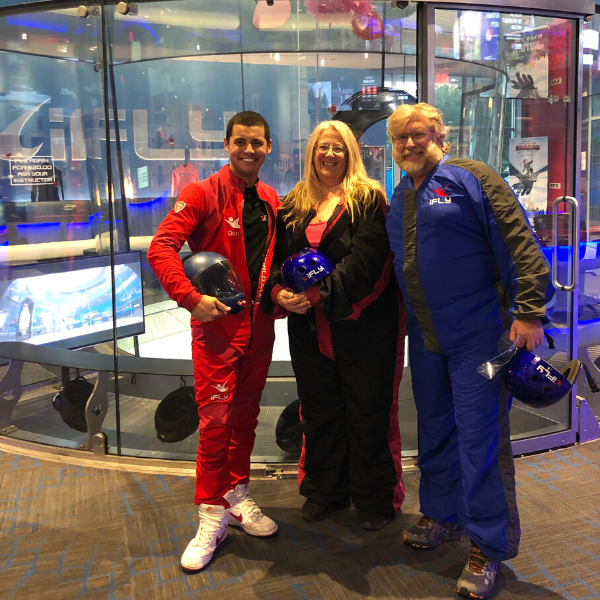 Gary and Michelle with ifly instructor
