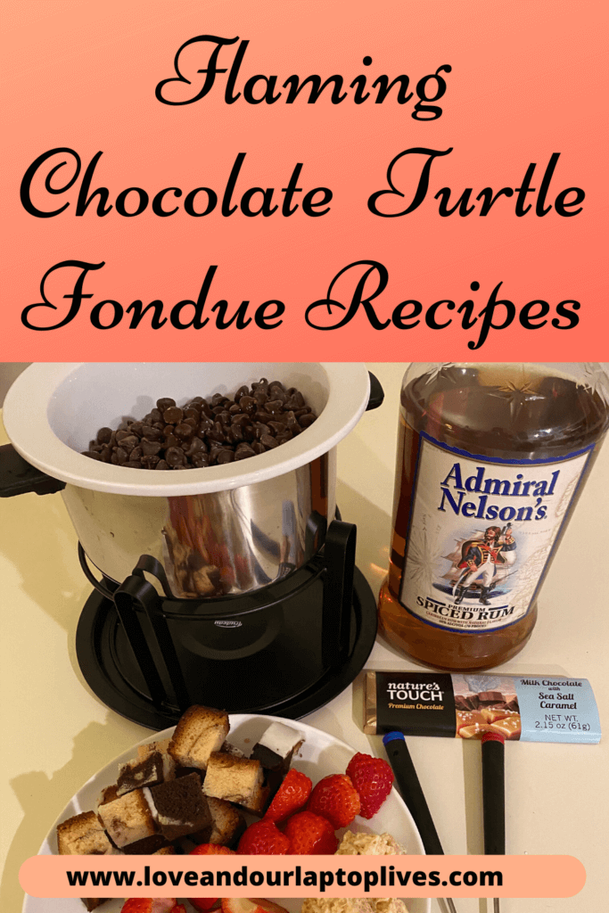 flaming chocolate turtle fondue recipe