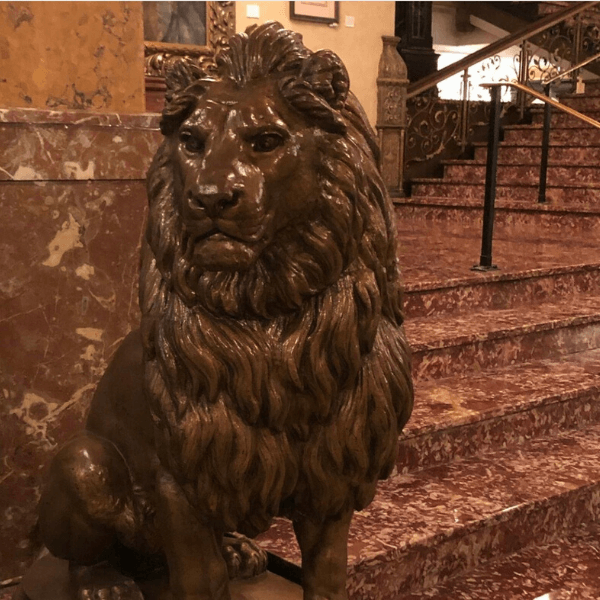 Lion Statue at the Pfister Hotel