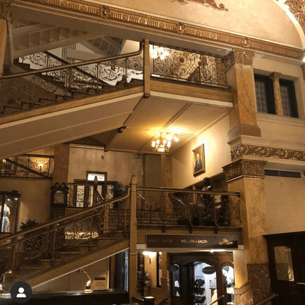 Original Staircase at the Pfister Hotel
