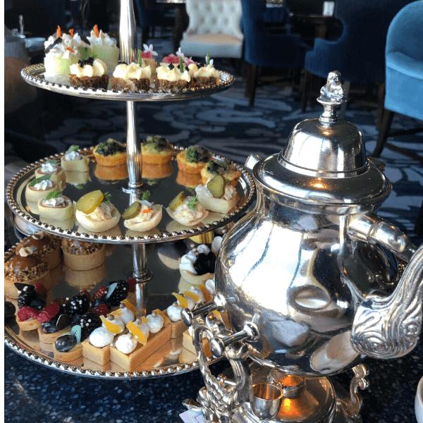 Tea and English treats at the Pfister Hotel