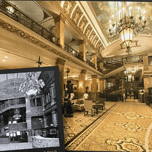 Pfister Hotel now and then
