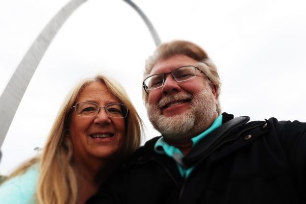 Gary and Michelle at the Arch