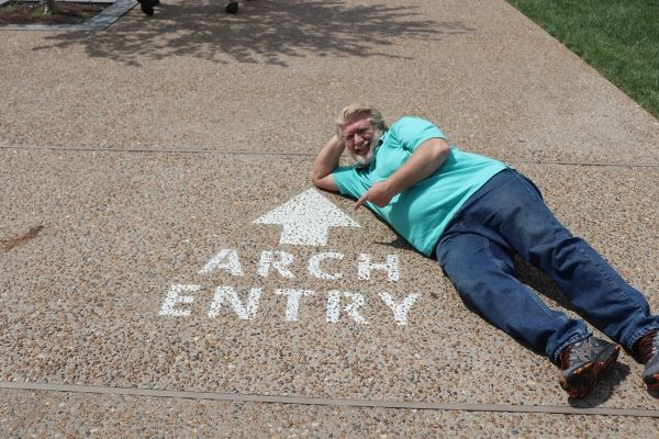 Gary at the Arch
