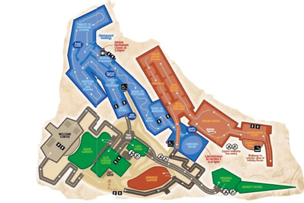 Map of The House on the Rock Tours