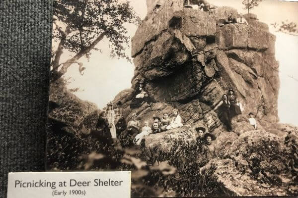 Picnic at Deer Shelter Chimney Rock, future location of House on the Rock
