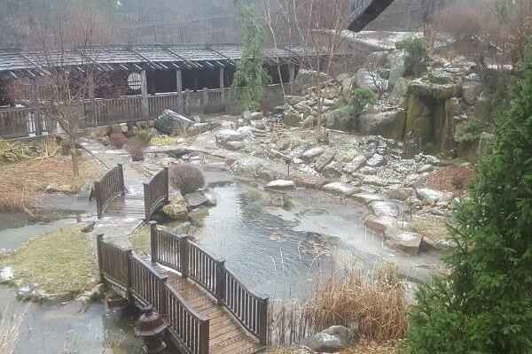 Zen Garden in the Winter