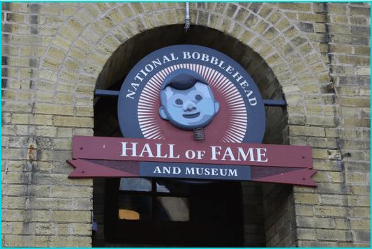 Unique Bobblehead museum sign