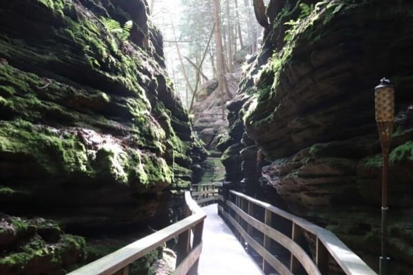 walkway through the Upper Dells