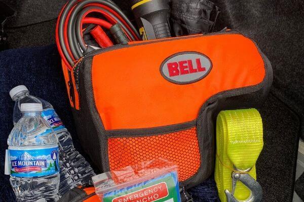 Car emergency kit for road trips
