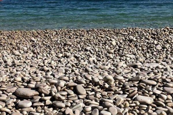 Glacier smoothed rocks on Schoolhouse beach, Washington Island, Wisconsin