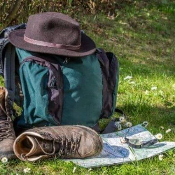 Prepare for a day hike with your backpack