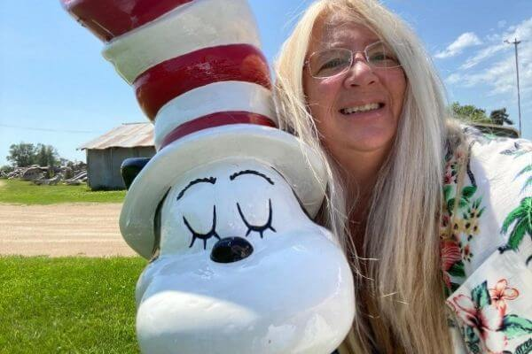 Michelle with The Cat and the Hat