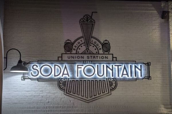 Amazing soda Fountain Sign at Union Station