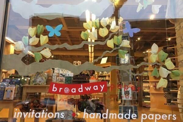 Broadway Paper window