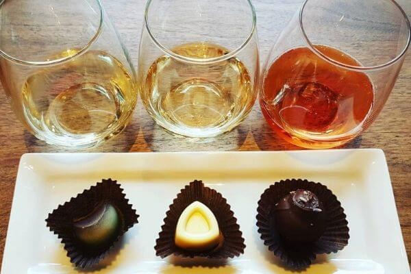 Wine and Chocolate pairing at Indulgence Chocolatiers