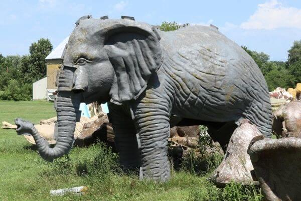 Life size elephant mold