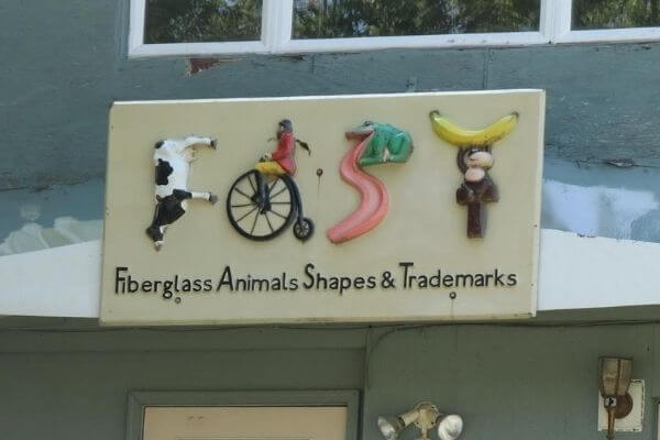 FAST sign - Fiberglass Animals Shapes and Trademarks