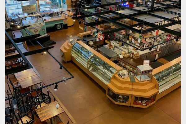 View of a small part of the Milwaukee Public Market from the second balcony