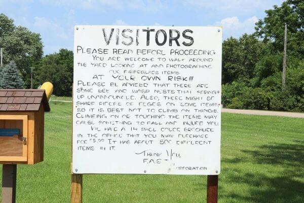 Visitor Sign at FAST Fiberglass