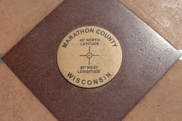 The 45x90 marker in Marathon County, Wisconsin