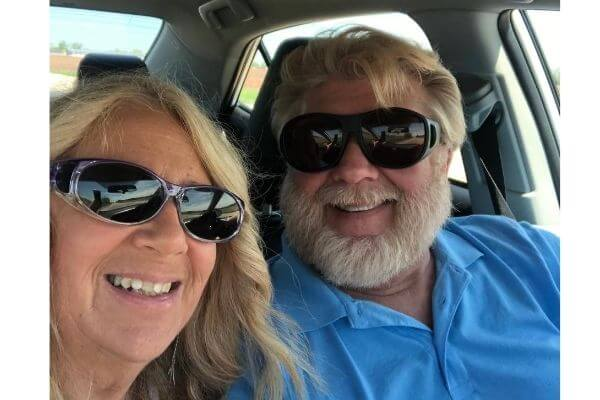 Gary and Michelle having a good attitude on a road trip