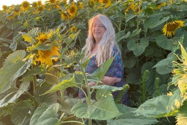 Michelle in the Sunflower field