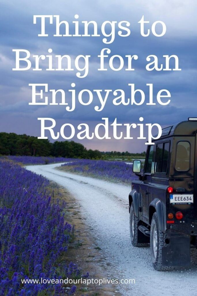 Things to bring for a enjoyable road trip - jeep driving on a road
