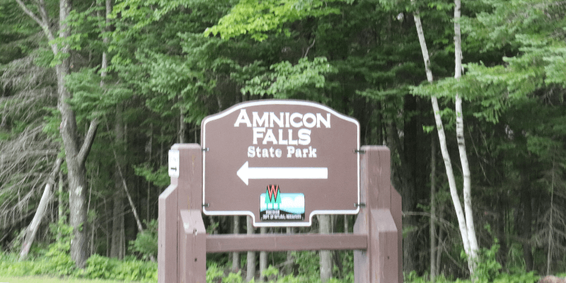 Amnicon Falls Sign