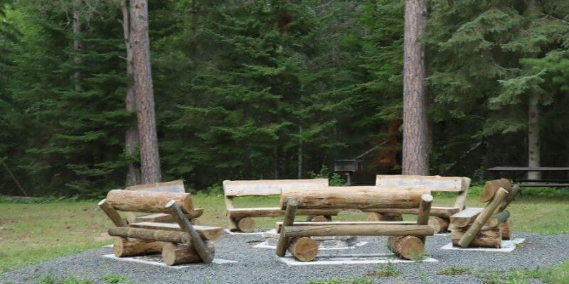 Benches at Amnicon Falls