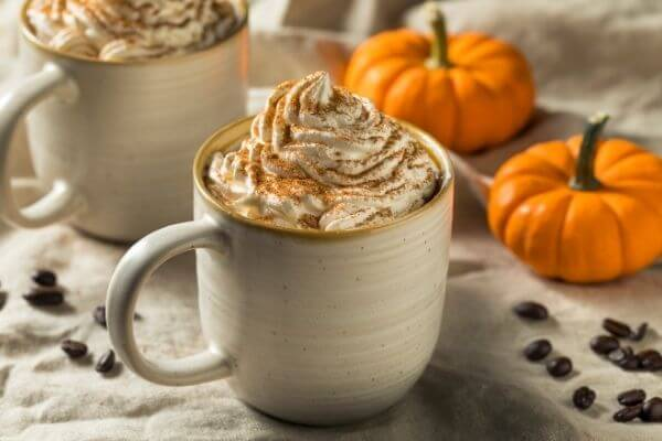 pumpkin spice with whipped