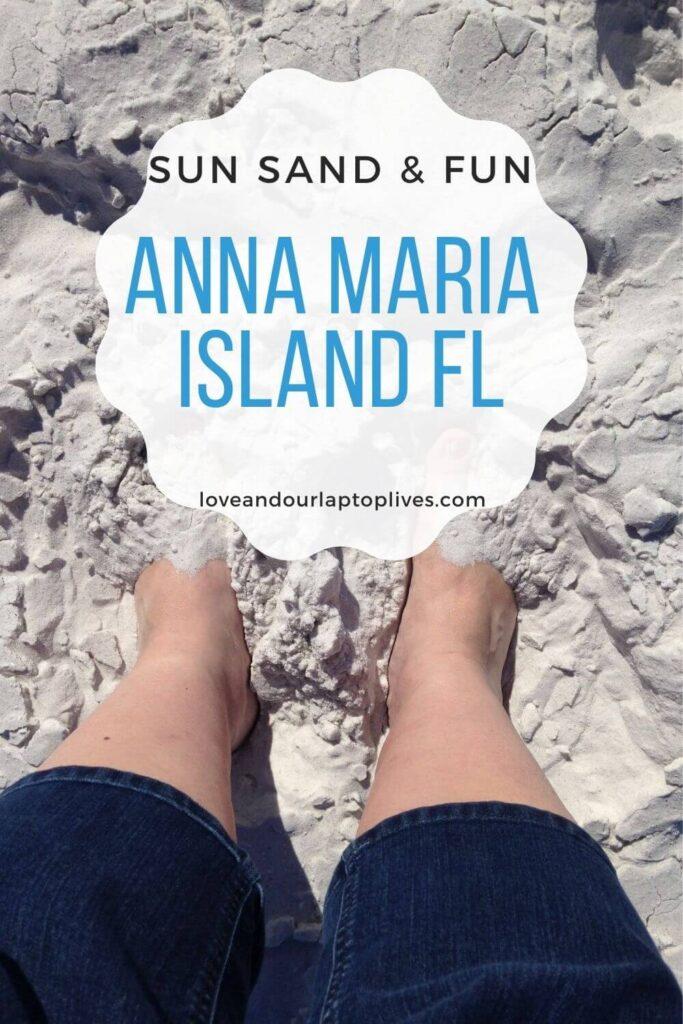 Anna Maria Island feet in the sand