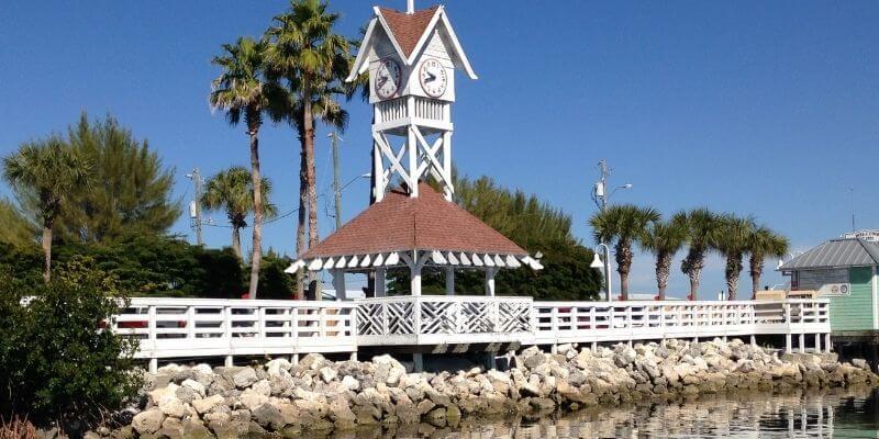 Clock tower on Anna Maria Island