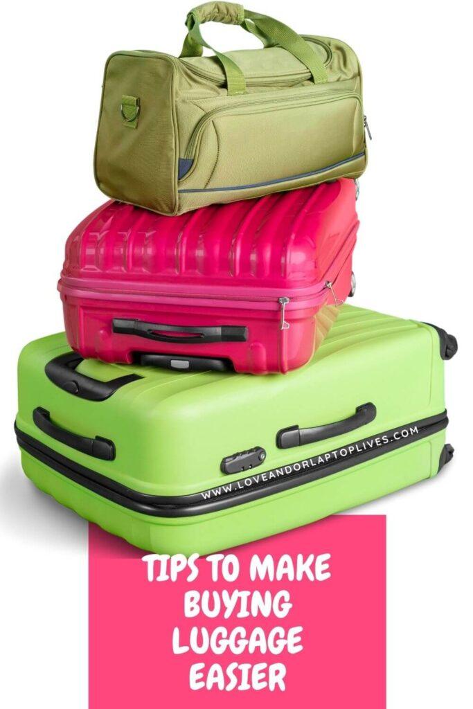 Tips to make buying luggage easier