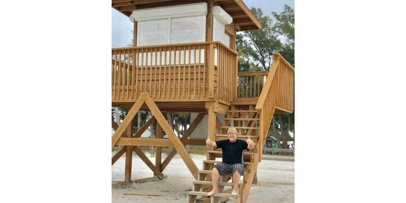 Its the beach life for me Gary and the life guard tower