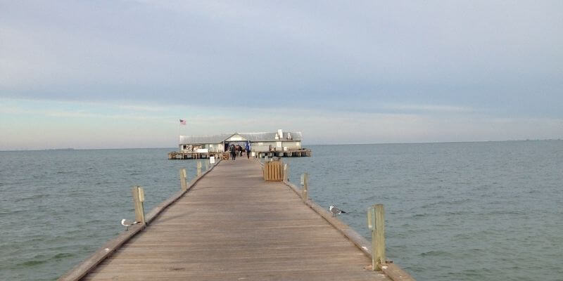 Anna Maria Island City Pier Restaurant before the hurricane