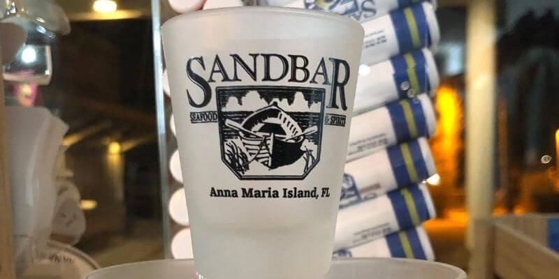 The Sand Bar shot glass