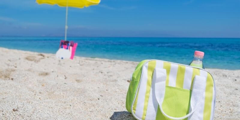 Collapsible cooler for the beach