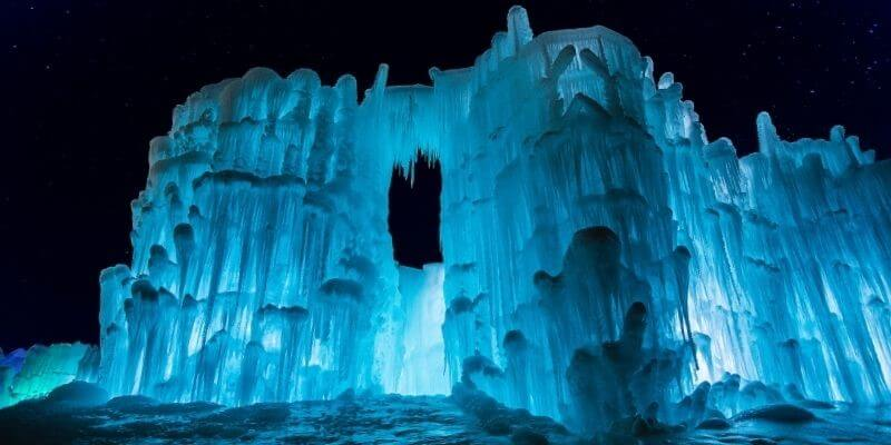 Ice Castle lake Geneva Wisconsin