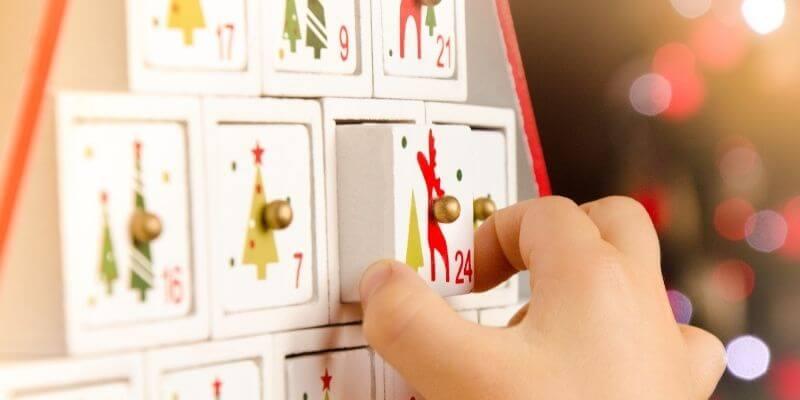 Christmas tradition of a advent calendar
