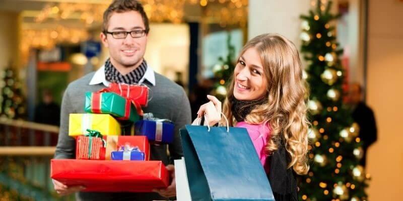 Christmas shopping date night