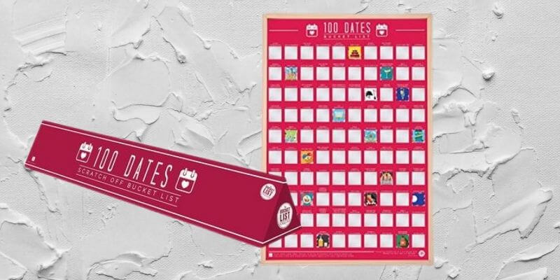 Valentine's Day gifts for her 100 date night scratch off poster